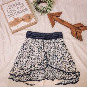 Francesca's floral detail skirt